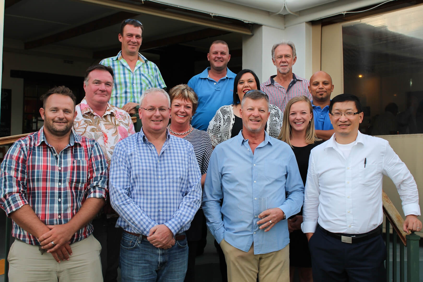 Cape Dried Fruit Packers Management and Business Partners from Australia all gathered under a Karoo sunset around a traditional South African Meal at the Montagu Bistro on Tuesday 26 January 2016.
